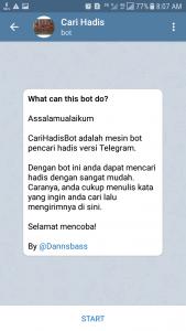 Bot Telegram Cari Hadis